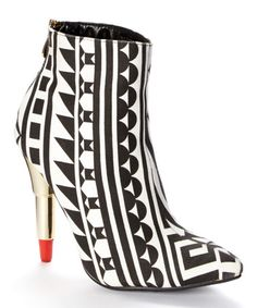 This Black & White Kiss & Tell Bootie by Red Kiss is perfect! #zulilyfinds