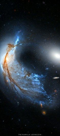 The Porpoise Galaxy from Hubble Image Credit: NASA, ESA, Hubble, HLA; Reprocessing & Copyright: Raul Villaverde