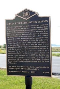Indian River Life-Saving Station Marker. Click for full size.