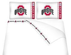 NCAA Ohio State Buckeyes Microfiber Sheet Set