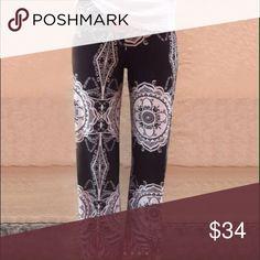 ✨Host Pick!!!✨Printed Palazzo/Yoga Pants Super soft yoga/palazzo pants. Black, white, and coral mix.  Price firm unless bundled. Pants