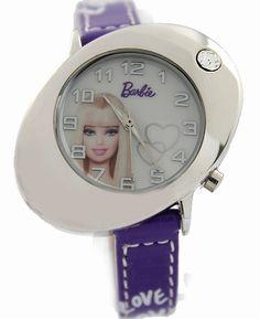 New Violet Band eliptičnega PNP Shiny Silver Watchcase Otroci Watch KW053B