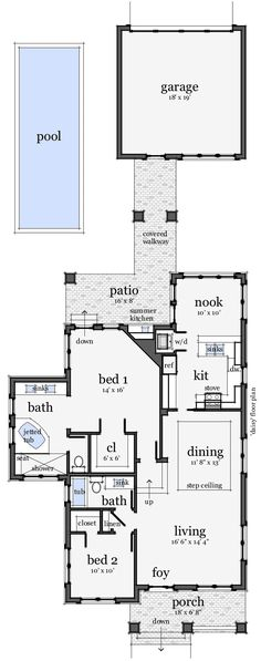 First Floor Plan of Bungalow   House Plan 67500