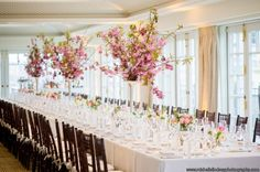 Top of the Hay Adams, tall cherry blossoms plus small spring flower arrangements  Photo Michelle Lindsay
