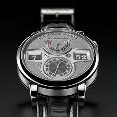 Lange and Sohne Zeitwerk Handwerkskunst Watch Fine Watches, Cool Watches, Watches For Men, Elegant Watches, Beautiful Watches, Luxury Watches, Rolex Watches, Monochrome Watches, Mens Digital Watches