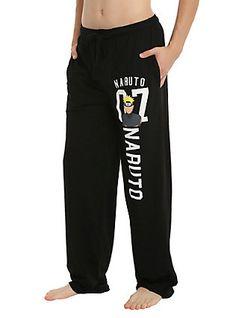Naruto Shippuden Naruto 07 Guys Pajama Pants, BLACK