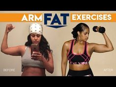 EXERCISES TO LOSE ARM FAT and TONE FLABBY ARMS | CHINACANDYCOUTURE FITNESS - YouTube