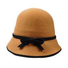Wool Felt Cloche/Bucket Hat