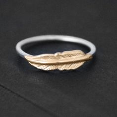 Feather Ring #rings #jewelry #feathers