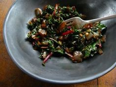 Sauteed Beet Greens w: Carmelized Onions and Balsamic Vinegar ⓒ michaela - thegardenerseden