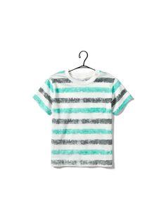two-tone striped t-shirt