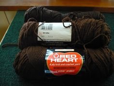 Reduced - Price Adjusted - Red Heart - Knit& Crochet Yarn - 3 Skiens - 1 Full 365 - Coffee 2 Used - 1 Coffee 1 Unknown - Price Is For All by pittsburgh4pillows on Etsy