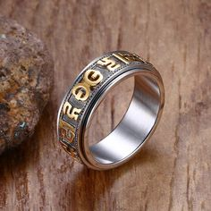 """""""Om Mani Padme Hum"""" Spinner Ring //Price: $15.55 & FREE Shipping //     #love #crystals"""