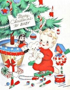 Baby Playing With Toys Greeting Cards Have All Been Sent