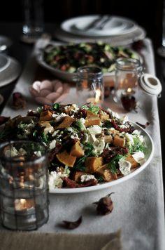 Pumpkin, Fetta, & Sundried Tomato Salad | Spoonful of Pixels