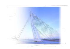 erasmus bridge rotterdam - rolf pauw