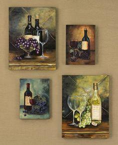 Wine Bottle Wall Decor wine bottle art vineyard kitchen wall decor | wine bottle art