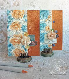 Metal panel cards by Riikka Kovasin for Prima Marketing