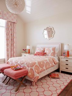 Colorful Coastal Interiors - Jacksonville, FL beach house - Bedroom #5. Décor by Andrew Howard Interior Design.