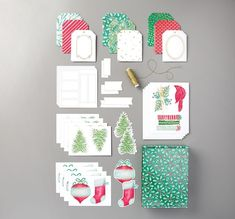 "We can NOT believe what the Tag Buffet Project Kit includes: 30 laser cut and printed tags (5 each of 6 designs) 36 laser cut white labels 35 laser cut and printed elements (trees stockings ornaments etc.) One spool Gold cord One designer gift box (7 1/2"" x 5 3/4"" x 1 3/4"") Tag Buffet Project Kit 153649 Tag Buffet Stamp Set 153612"