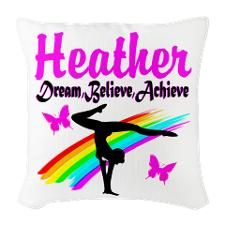 SUPER STAR GYMNAST Burlap Throw Pillow http://www.cafepress.com/sportsstar/10114301  #Gymnastics #Gymnast #IloveGymnastics #Gymnastgifts #WomensGymnastics #Gymnastcalendar #PersonalizedGymnastics #Gymnastinspiration