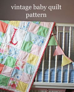 vintage baby quilt by V & Co.