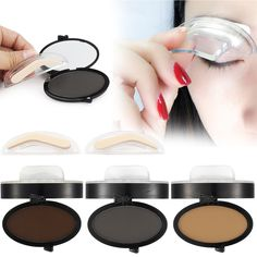 Eyebrow Enhancers Diligent Natural Arched Eyebrow Stamp Eyes Brow Stamps Powder Palette Beauty Makeup Tool Seal Waterproof Professional Eyebrow Stencils
