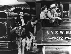 The Marx Brothers, Greta Garbo, Clark Gable ride a train in a scene from the film 'The Big Parade of Comedy', Get premium, high resolution news photos at Getty Images Harpo Marx, Groucho Marx, Margaret Dumont, Buster Keaton, Javier Fernandez, Old Hollywood Movies, Clark Gable, Western Movies, About Time Movie