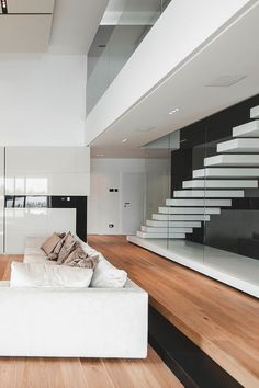 C House — Parasite Studio | White Minimalist | Natural Wood Floors | Contemporary Design #inspiration #nakedstyle