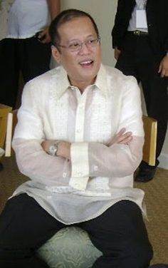 President Bengno 'Noynoy' Aquino of the Philippines wearing the traditional shirt, the barong tagalog.