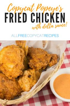 If you love Popeye's delta sauce with their chicken, then this recipe is the one you've been waiting for! This copycat Popeye's spicy chicken recipe has the perfect balance of Southern spice. Pollo Popeyes, Popeyes Spicy Chicken Recipe, Spicy Chicken Recipes, Cajun Fried Chicken, Chicken Gravy, Recipe Chicken, Crispy Chicken, Bbq Chicken, Roasted Chicken
