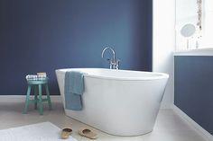 Innenfarbe in Blau, Dunkelblau streichen: Alpina Farbrezepte Blaue Stunde - Alpina Farben
