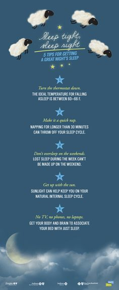 5 Tips For Better Sleep #Infographic via @Health. Join In.