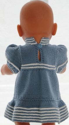 Knitting pattern for doll clothes - beautiful summer clothes for your girl doll ., Knitting pattern for doll clothes - beautiful summer clothes for your girl doll and your boy doll. Baby Doll Clothes, Doll Clothes Patterns, Clothing Patterns, Baby Born Kleidung, Journey Girls, Toddler Quilt, Sailor Dress, American Girl Clothes, Free Baby Stuff
