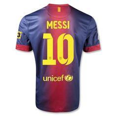 d79cb7faff8 12 13 Barcelona  10 MESSI Home Soccer Jersey Shirt Replica Barcelona T Shirt