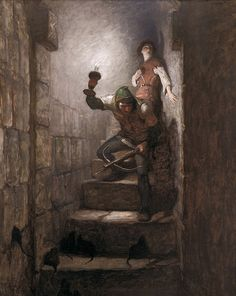 N.C. Wyeth (1882 - 1945), We Must Be in the Dungeons, 1916, oil on canvas, 39 1/4 x 31 1/4 inches