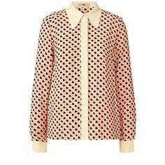 Orla Kiely: Sweetheart Print Crepe Blouse // Style and Substance Magazine // For all things tznius and modest!