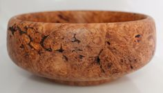Hand-Turned Maple Burl Bowl