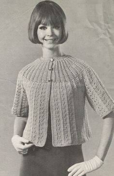 W927 ladies crochet cardigan American designed by Ellisadine, £1.45