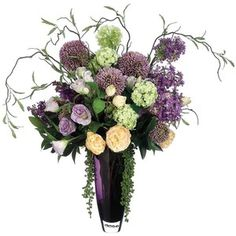 lavender and hyranga floral arrnagments - Google Search