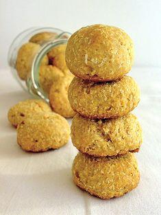 Biscotti morbidi al cocco con miele e yogurt (senza burro)