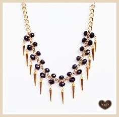 colar#cristais#spikes #necklace