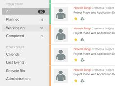 ProjectPlace Web Application Design by Naresh Bingi, via Behance