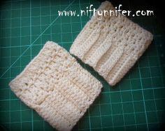 Easy Boot Cuffs Free Crochet Pattern by Niftynnifer