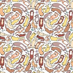 I made a new pattern ^-^ A happy otter swirl :3