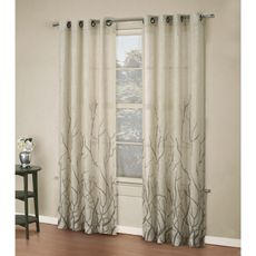 Alton Print Grommet Window Curtain Panels 3499 At Bed Bath And Beyond Living Dining Room