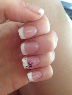 Nails , hello kitty