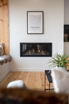 Superbe foyer contemporain @napoleon fireplace dans Charlevoix au Québec
