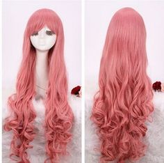105-110cm supper long pink Megurine Ruka curly cosplay wig ML10