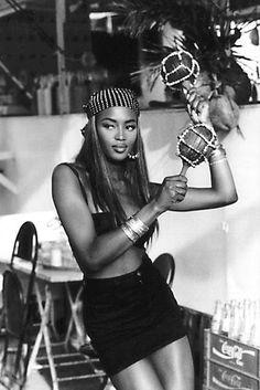 Naomi Campbell, Brazil, 1991 by Ellen Von Unwerth. S)
